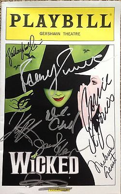 WICKED Spring 2016 Cast Signed Playbill LEUKAEMIA CHARITY AUCTION