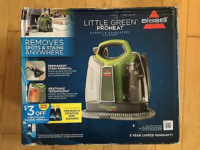 Bissell Little Green Proheat Carpet & Upholstery Cleaner - Brand New Model 5207H