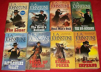 J.A. Johnstone – Lot of 8 – THE LONER series -- all FTIP