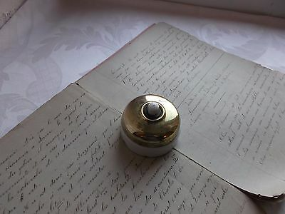 French antique porcelain doorbell switch push botton classic