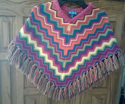 The Children's Place Girl's Multi-Color Poncho Size Small 5-6
