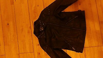 girls faux leather jacket age 10 / 11