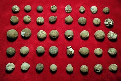 (1800 AD): FRANCE- NAPOLEON- 40x MUSKET LEAD BULLETS - TOP !!!