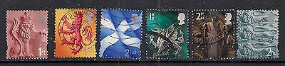 GB 1999 - 2002 QE2 1st & 2nd  6 x Various regional stamps. ( 226 )