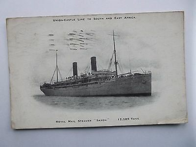 Rms Saxon Union-Castle Line To South & East Africa 1930