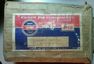 Empty Kaiser Jeep Part Box For Display Toledo Ohio Oh Made In Usa