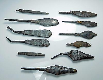 *HHC* ANTIQUITIES, Lot of 11 Medieval Iron arrowheads, Well preserved