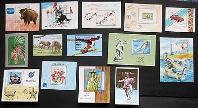 Laos 1986-1989: Selection of 14 Miniature Sheets in Mint Condition (70p each!)
