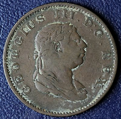 1813 British Guiana Colonies Essequebo & Demarary Half Stiver Coin