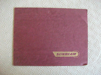 Sunbeam 1950 motorcycle sales catalogue, original,S7 & S8 + sidecar, good cond'