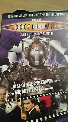 dr who rise of the cybermen part 1/the age of steel part 2 dvd (dvd files #10)