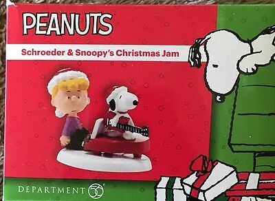 Dept 56 SCHROEDER AND SNOOPY'S CHRISTMAS JAM Peanuts Village 4026955 NEW in box