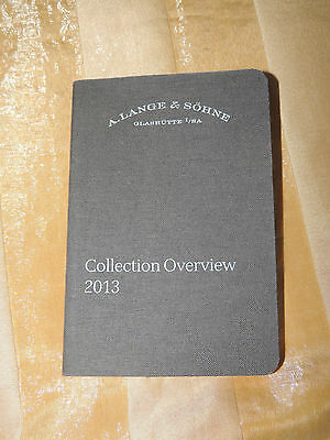 A. Lange Sohne Collection Overview 2013 Booklet Mint Condition