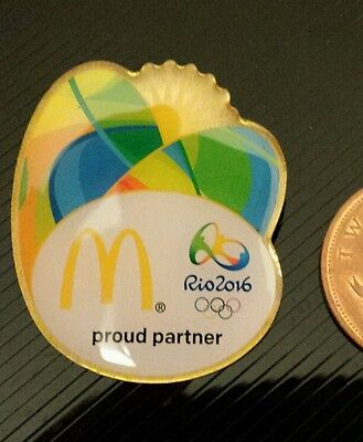 McDonalds Large Pin Badge Rio 2016 Olympic Games Staff exclusive