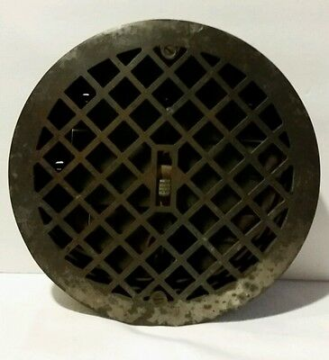 Vintage Cast Iron Heater Grate Register Round 10""