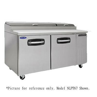 Nor-Lake NLPT67-003 Pizza Prep Table Refrigerated Counter with Drawers and Door