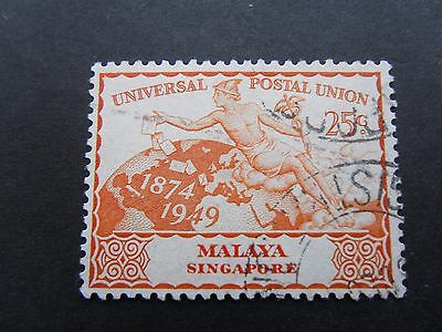 Malaya - Singapore UPU 1949 used stamp