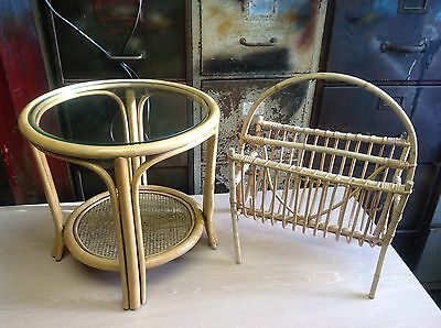 Bamboo centre  table and magazine rack