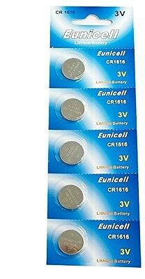 5 x EUNICELL CR1616 3V Lithium Batteries  BR1616  DL1616 Button Cell Battery
