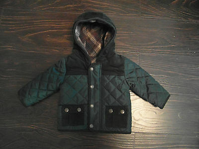 Baby Boys M&S Autograph Quilted Hooded Jacket/Coat size 3-6 months Exc worn once