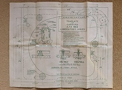 Original Paper TEMPLATE for the GARRARD AT6 Mark II Turntable