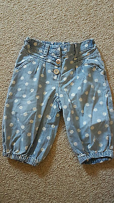 Girls' cropped trousers aged 18-24 months (Next)