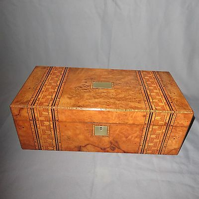 A SUPERB LARGE 19th CENTURY VICTORIAN INLAYED WRITING SLOPE-WITH SECRET DRAWERS