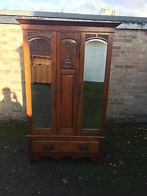 Solid Mahogany Antique Wardrobe
