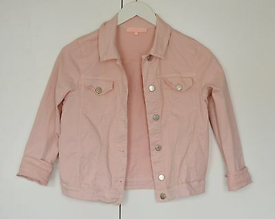 JIGSAW JUNIOR girl's denim jeans  jacket, Baby Pink, 10/11y