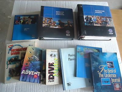 PADI INSTRUCTOR LOT Diving Instructor Courses Books DVDs