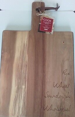 Acacia Wooden Etched Breadboard New With Tags - Free Postage