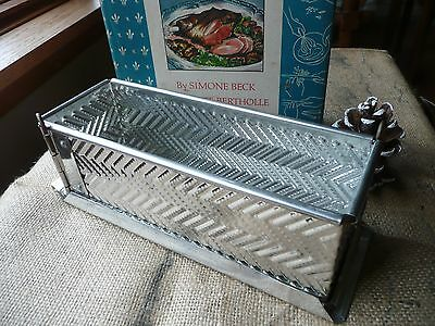 Vintage Terrine GAME PIE TIN MOLD MOULD Rectangle WITH Hinges AND BASE 8 inches