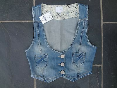 Brand New With Tags Next Denim Waist Coat Age 16 Years