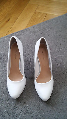 Ladies White Heels Size 6 From New Look