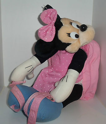Disney Minnie Mouse novelty rucksack backpack bag Plush Soft Bag