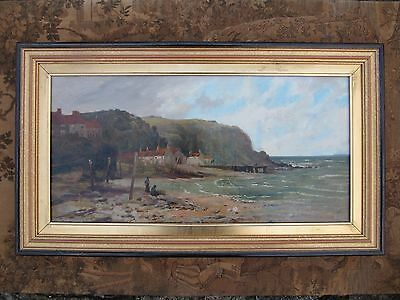Very Fine Antique Early 20th Century Oil On Canvas Painting. Staithes School