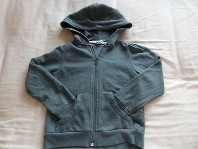 H&M Boys Girls Unisex Grey Hooded Long Sleeve Jacket Size 4-6 Years