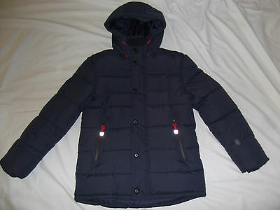M&S Boy 13-14 NAVY PUFFA JACKET mint con OUTDOOR EXPEDITION winter THICK PADDED