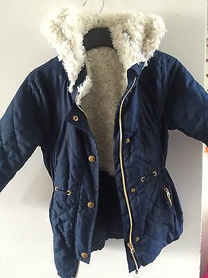 Lovely Navy Zipped Coat From Dunnes Stores.  Age 5