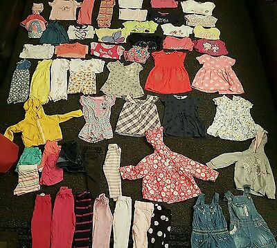 Baby Girls 12-18 months clothes bundle 58 items 1