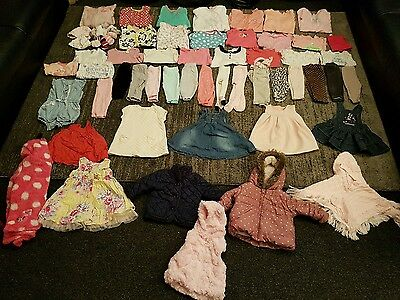 Baby Girls 3-6 Months clothes Bundle 60 items 2