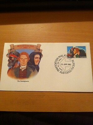First Day Cover Australia 1982-The Immigrants , Postmark Melbourne Jan 1982.
