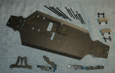 Vgc Hong Nor X1Cr Pro Parts - Cnc 7075 Lightened Alloy Chassis, Susp Hangers +++