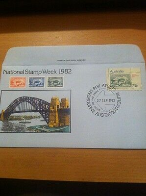 Australia First Day Cover National Stamp Week 1982 P/m 27.9.1982 Melbourne