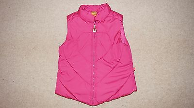 MAYORAL  girls quilted gilet / waistcoat in pink size 6 years MINT condition