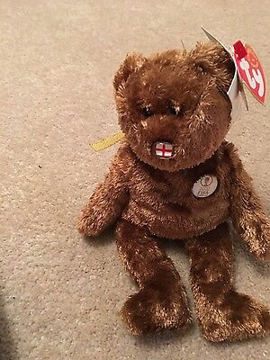 England the TY beanie baby bear - new with tags