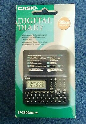 Casio Digital Diary Sf-3300Abu-W Boxed Working Complete