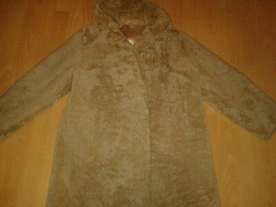 Ladies Vintage Tescan Chunky Sheepskin Coat Approx 12