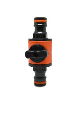 """1/2"""" Garden Hose Pipe In line Tap Shut Off Valve Fitting Connector - 2 pack"""