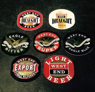 West End Stickers x 7 Various.